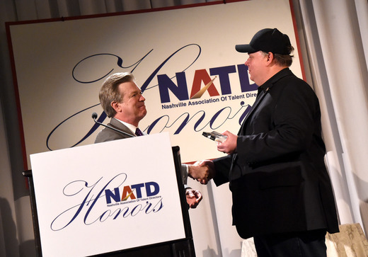 Kirt Webster receiving the NATD Director's Award