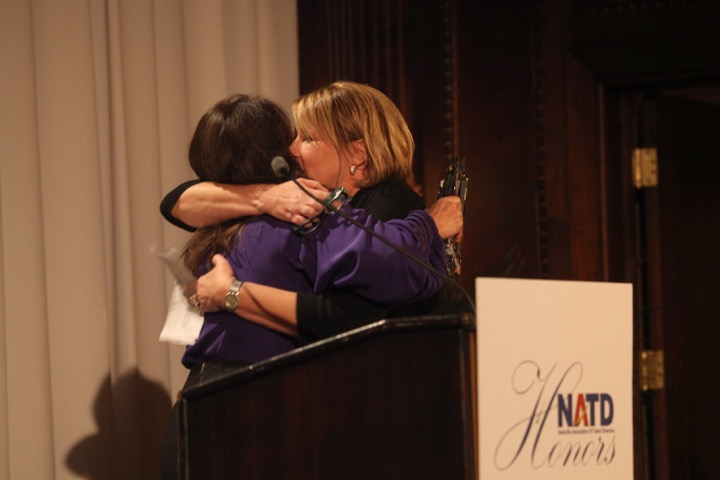 Nan Kelley introduces honoree Sarah Trahern